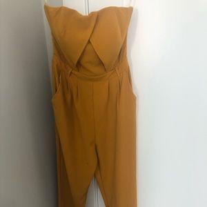 Mustard yellow Jumpsuit never been worn - L'ATISTE